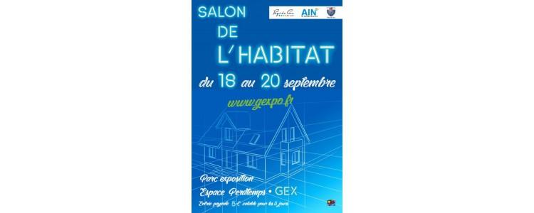 SALON DE L'HABITAT À GEX DU 18 AU 20 SEPTEMBRE 2020