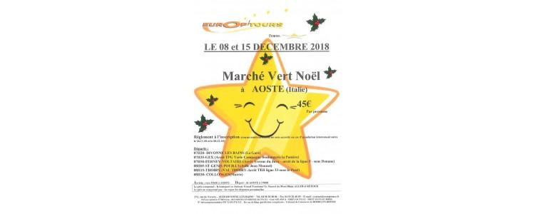 EUROP'TOURS : Marché de Noël à AOSTE les 8 et 15 décembre 2018