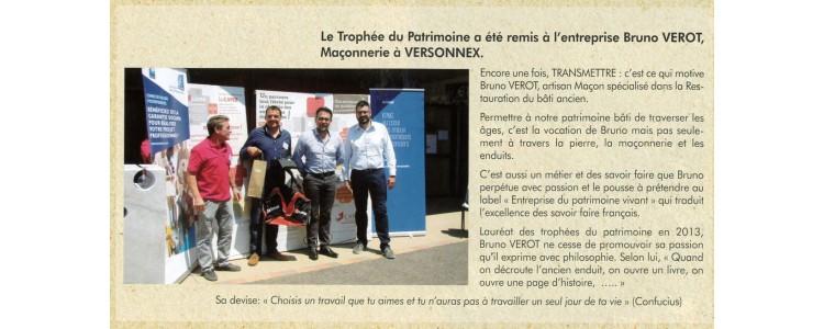 CAPEB de l'Ain - Journal AIN PROS - Trophée du Patrimoine et du Savoir-faire